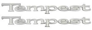 "1967-1969 Tempest Fender Emblem, 1967-69 ""Tempest"""