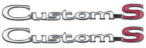 "GTO Fender Emblem, 1969 ""Custom S"""
