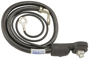 1973-74 Cutlass/442 Battery Cable, Side Post Negative V8, 350CI