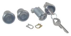 1963-1963 Skylark Lock Set: Door, Glove Box & Trunk Pearhead Keys