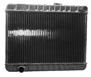 "1966 LeMans Radiator, Original Style At V8 - 15-5/8"" X 24-3/4"" X 2"" - Non-AC, Driver Filler"
