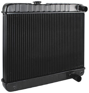 "1964-1965 LeMans Radiator, Original Style 1964-65 V8 - 15-5/8"" X 24-3/4"" X 2"" - Non-Ac Manual, Driver Filler, by U.S. Radiator"