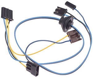 1965-1965 El Camino Wiper Motor Harness 2-Speed, W/Washer Motor Option, by M&H