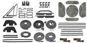 1971-72 Chevelle Stage II Coupe Premium Weatherstrip Kit Reproduction Style Felts, Non-SS