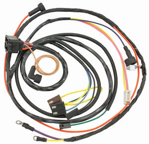 1967-1967 El Camino Engine Harness V8 HEI w/Warning Lights, by M&H