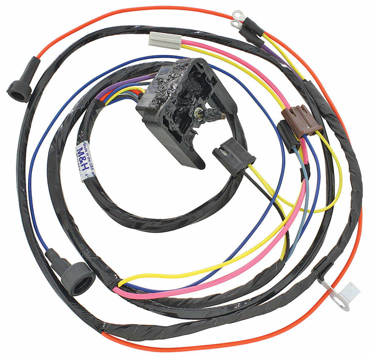 38947 lrg?v=102520130818 m&h 1968 69 chevelle engine harness 396 hei w warning lights motor wiring harness for a 1966 ford galaxie at panicattacktreatment.co