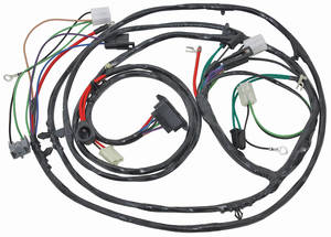 1967-1967 Chevelle Forward Lamp Harness 6-Cylinder and V8 w/Warning Lights (Alt.: Driver) (Int. Reg.), by M&H