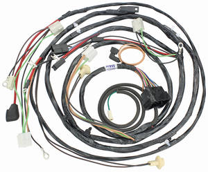 1969 El Camino Forward Lamp Harness V8 w/Warning Lights (Alt.: Pass.) (Int. Reg.)