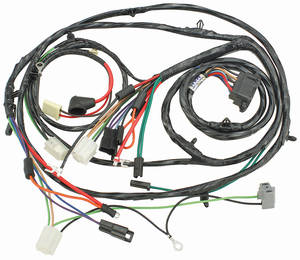 1967-1967 Chevelle Forward Lamp Harness 6-Cylinder and V8 w/Gauges (Alt.: Driver) (Int. Reg.), by M&H