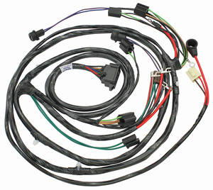 1965 El Camino Forward Lamp Harness 6-Cylinder and V8 w/Gauges (Alt.: Pass.) (Int. Reg.)