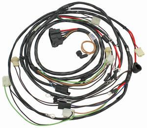 1968 Chevelle Forward Lamp Harness V8 w/Warning Lights (Alt.: Pass.) (Int. Reg.)