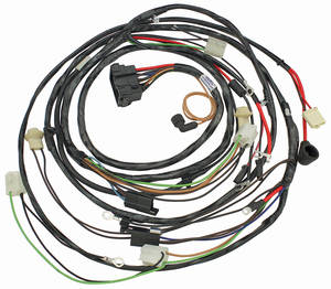 1968 El Camino Forward Lamp Harness V8 w/Warning Lights (Alt.: Pass.) (Int. Reg.)