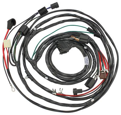 1964-1964 Chevelle Forward Lamp Harness 6-Cylinder and V8 w/Gauges (Alt.: Pass.) (Int. Reg.), by M&H