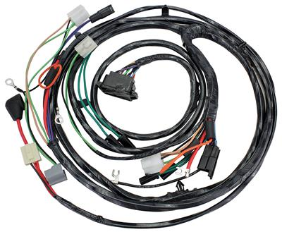 1967 El Camino Forward Lamp Harness 6-Cylinder and V8 w/Gauges (Alt.: Pass.) (Int. Reg.)