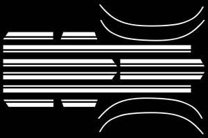Chevelle Body Stripe Decals, 1967 Super Sport Deluxe White
