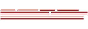 Chevelle Body Stripe Decals, 1967 Super Sport Bodyside Red, by RESTOPARTS
