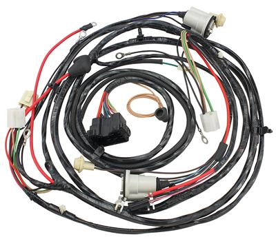 1971 El Camino Forward Lamp Harness V8 w/Warning Lights & AC (Alt.: Pass.) (Int. Reg.)