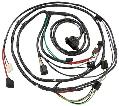 1965 El Camino Forward Lamp Harness 6-Cylinder and V8 w/Warning Lights (Alt.: Pass.) (Int. Reg.)