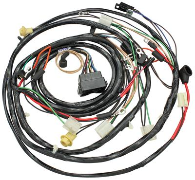 1968-1968 El Camino Forward Lamp Harness V8 w/Gauges (Alt.: Pass.) (Int. Reg.), by M&H