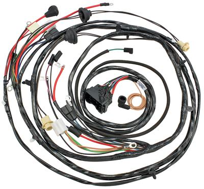 1970 Monte Carlo Forward Lamp Harness (V8 with Warning Lights, Air Conditioning & Internal Regulator)