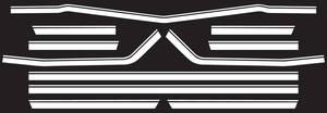 Body Stripe Decals, 1968 Super Sport El Camino White (7 Pieces)