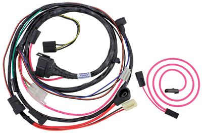 1973 GTO Engine Harness For HEI Ignition V8 w/AC, w/Functional Hood Scoop*