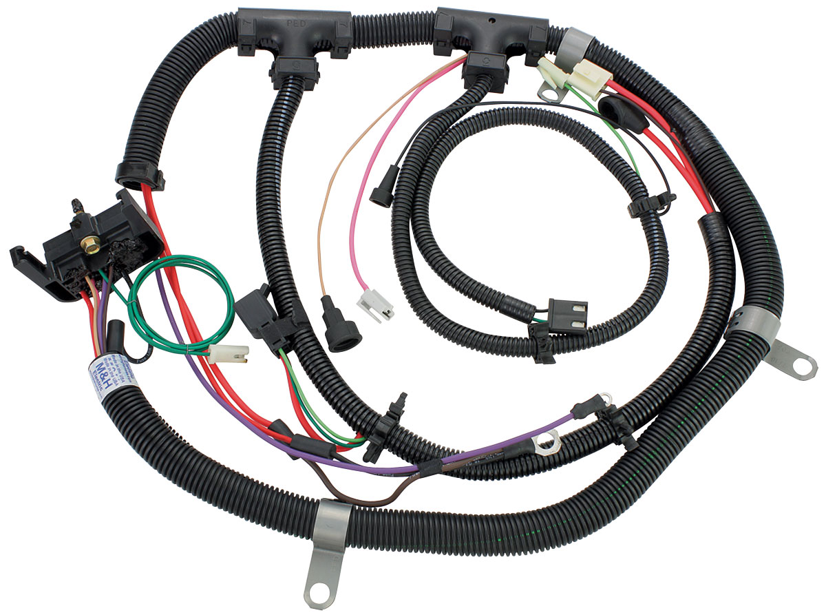 1980 el camino wiring harness m&h el camino engine harness 229 v6 w/gauges, exc. th200c ...