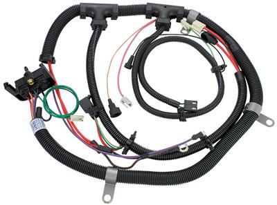 1980-1980 El Camino Engine Harness V8 w/Warning Lights, Exc. TH200C, by M&H