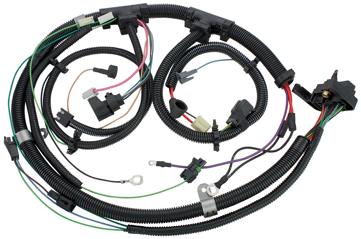 m&h el camino engine harness v8 w/gauges & th200c fits ... 1980 el camino wiring harness
