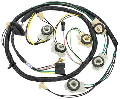 1982-1982 Malibu Rear Light Harness Rear Body, Intermediate To Bumper Malibu Wagon, w/Diesel, by M&H