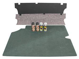 1969-72 LeMans Trunk Mat Kits Convertible (Green/Gray)