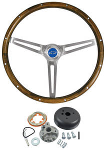 1967-68 Chevelle Steering Wheel Kits, Walnut Wood, by Grant