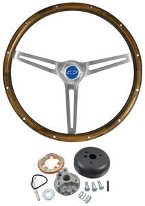1967-68 Chevelle Steering Wheel Kits, Walnut Wood