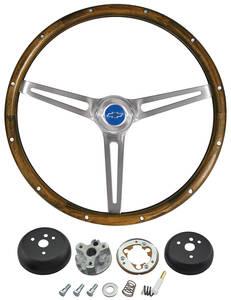 1964-1965 Chevelle Steering Wheel Kits, Walnut Wood
