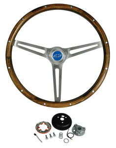 1969-1977 El Camino Steering Wheel Kits, Walnut Wood, by Grant
