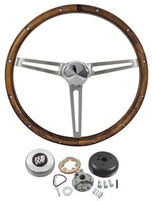1969-76 Riviera Steering Wheel, Wood Standard Column, by Grant
