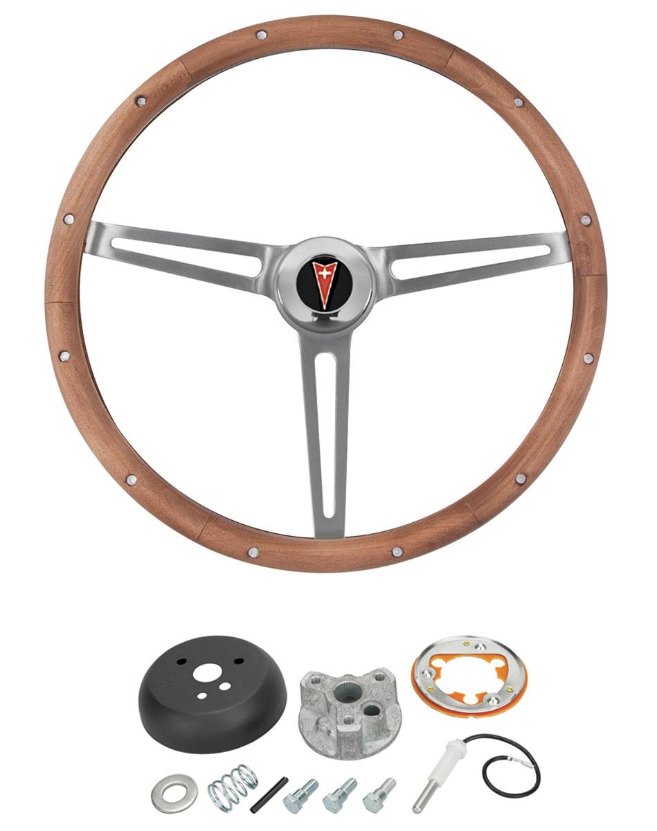 Photo of Steering Wheel, Walnut Wood w/tilt