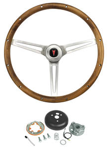 1969-1973 GTO Steering Wheel, Walnut Wood