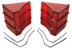 1967-1967 El Camino Tail Lamp Lens, 1967 El Camino & Wagon w/Chrome Trim, by RESTOPARTS