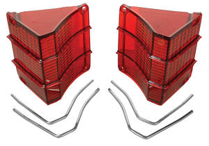 Tail Lamp Lens, 1967 El Camino & Wagon w/Chrome Trim, by RESTOPARTS