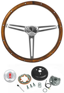 1969-1977 Cutlass Steering Wheel Kits, Walnut Wood Standard Column, by Grant