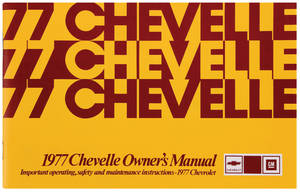 1977-1977 Chevelle Owners Manuals, Authentic Chevelle