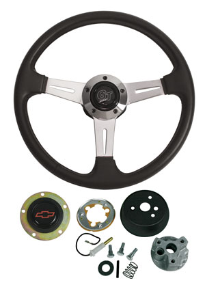 1964-65 Chevelle Steering Wheels, Elite GT Red Bowtie