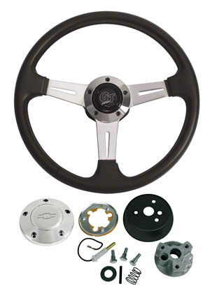 1964-65 Chevelle Steering Wheels, Elite GT Polished Billet