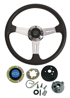 1967-68 Chevelle Steering Wheels, Elite GT Blue Bowtie