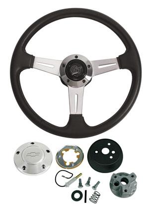 1967-1968 Chevelle Steering Wheels, Elite GT Polished Billet, by Grant
