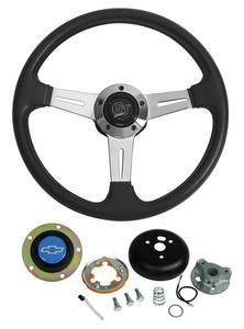 1969-77 Chevelle Steering Wheels, Elite GT Blue Bowtie