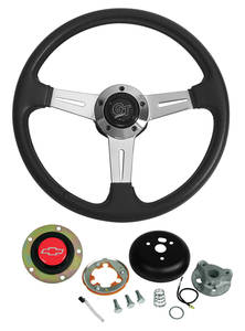 1969-77 Chevelle Steering Wheels, Elite GT Red Bowtie
