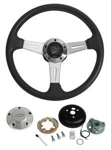 1978-1988 El Camino Steering Wheel, Elite GT w/Polished Billet Cap, by Grant