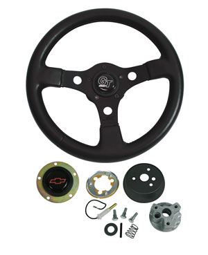 1964-1965 El Camino Steering Wheels, Formula GT Red Bowtie, by Grant